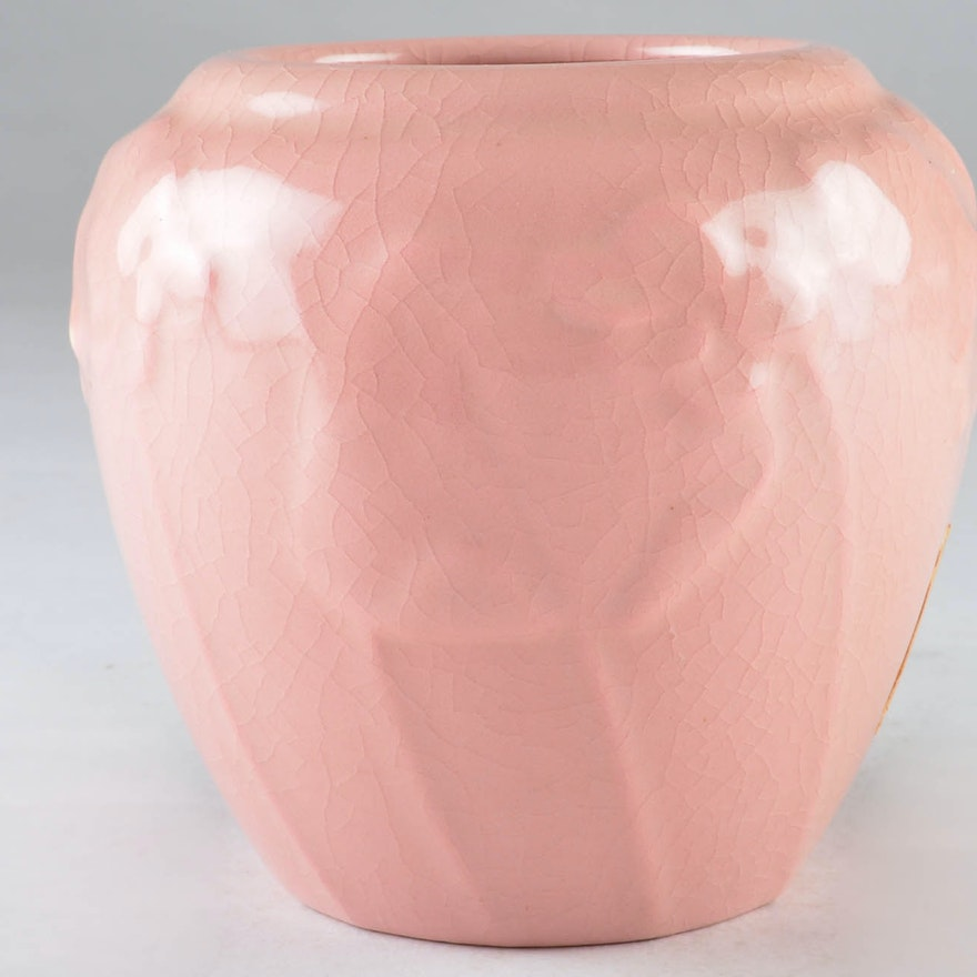 1946 Rookwood Pottery Pale Pink Vase Ebth