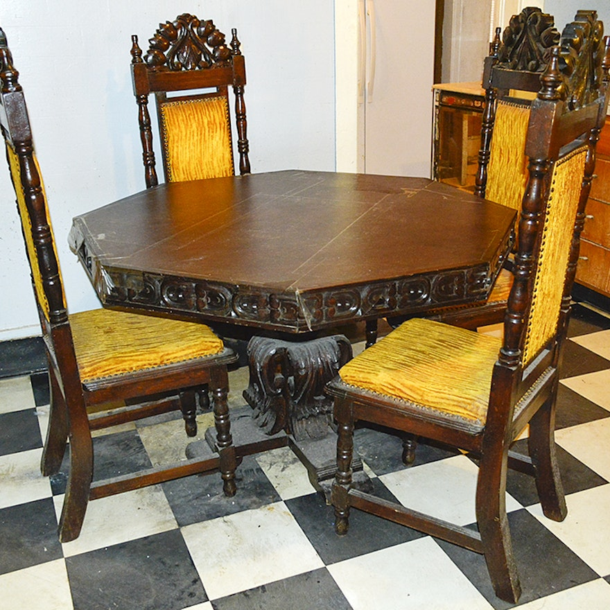 Gothic Style Dining Table And Chairs Dining Room Ideas