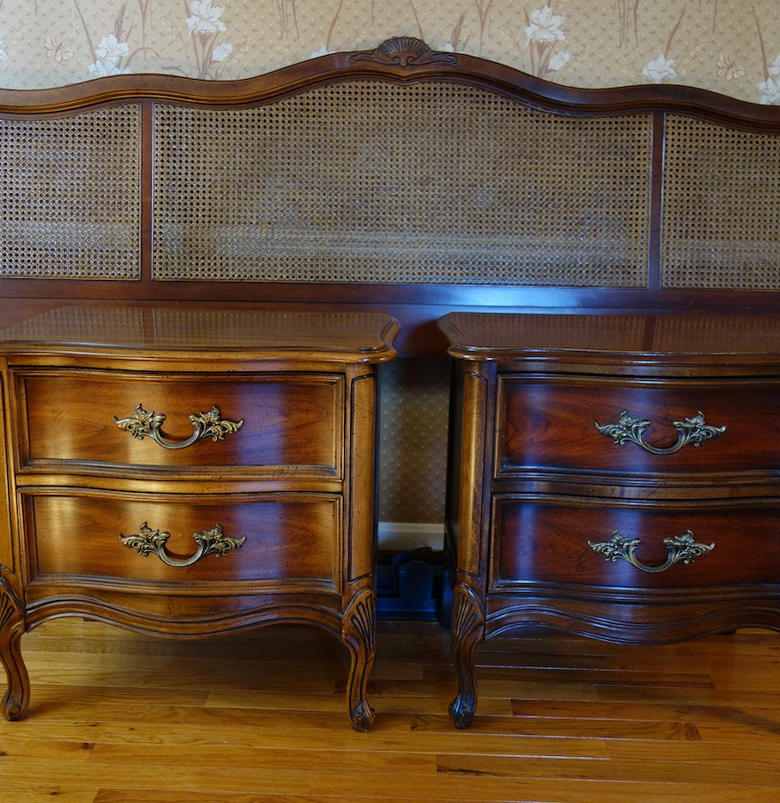 Vintage dixie furniture french provincial bedroom set 7 for French provincial bedroom furniture