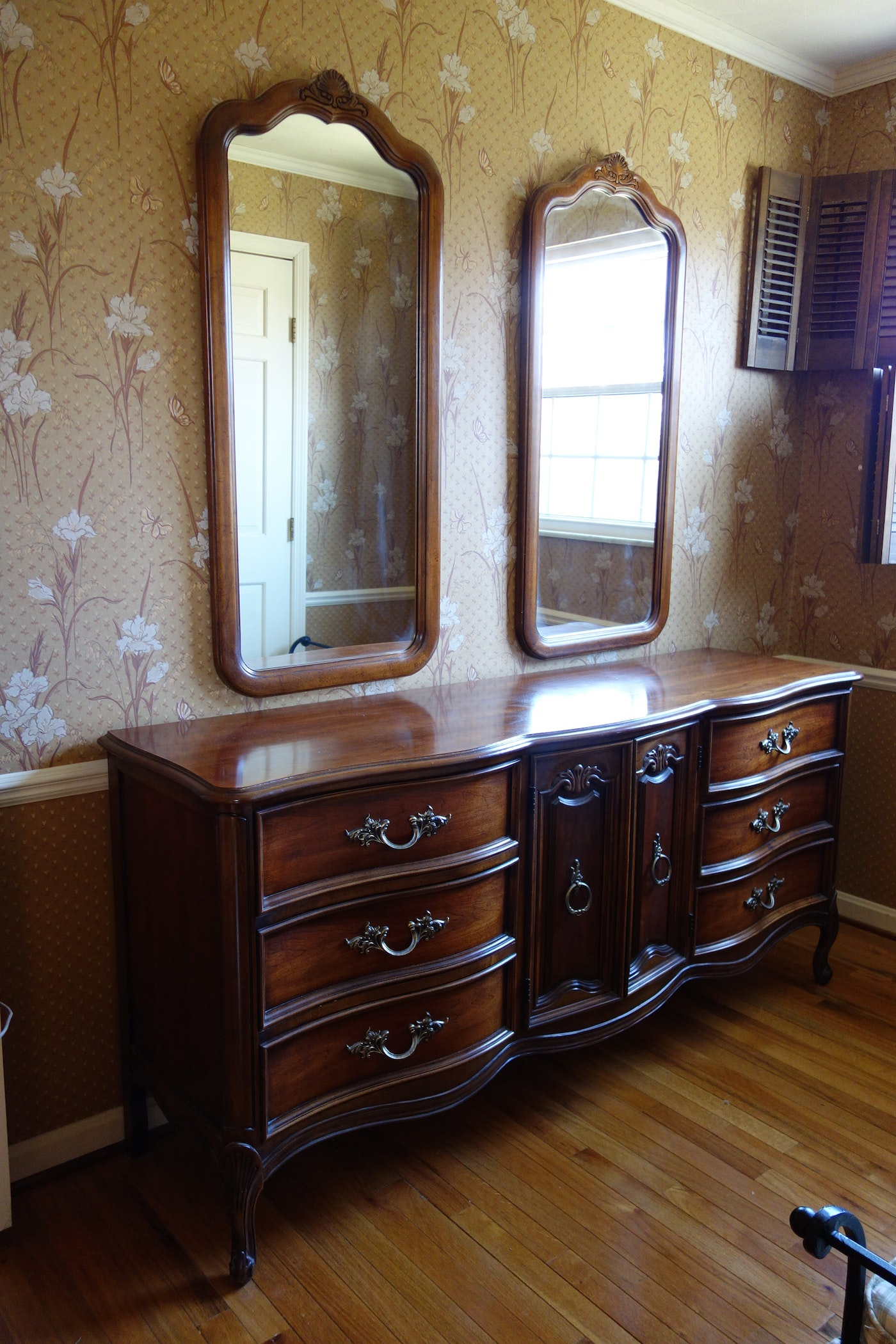 Vintage Dixie Furniture French Provincial Bedroom Set 7 Pieces Ebth