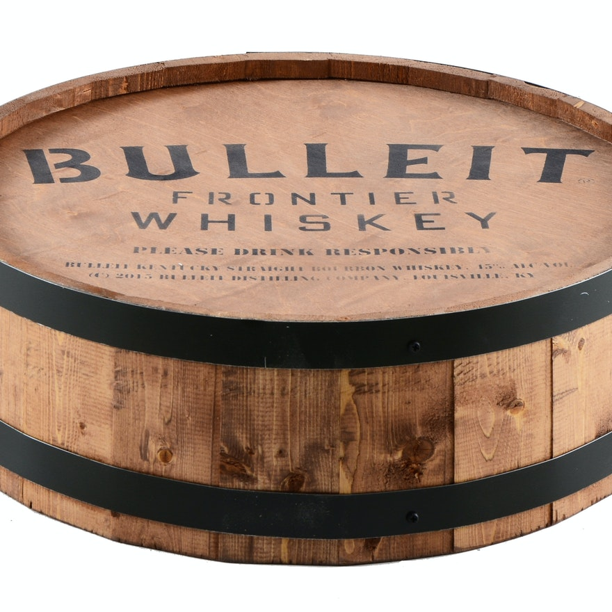 Wall Hanging Bulleit Frontier Whiskey Barrel Ebth