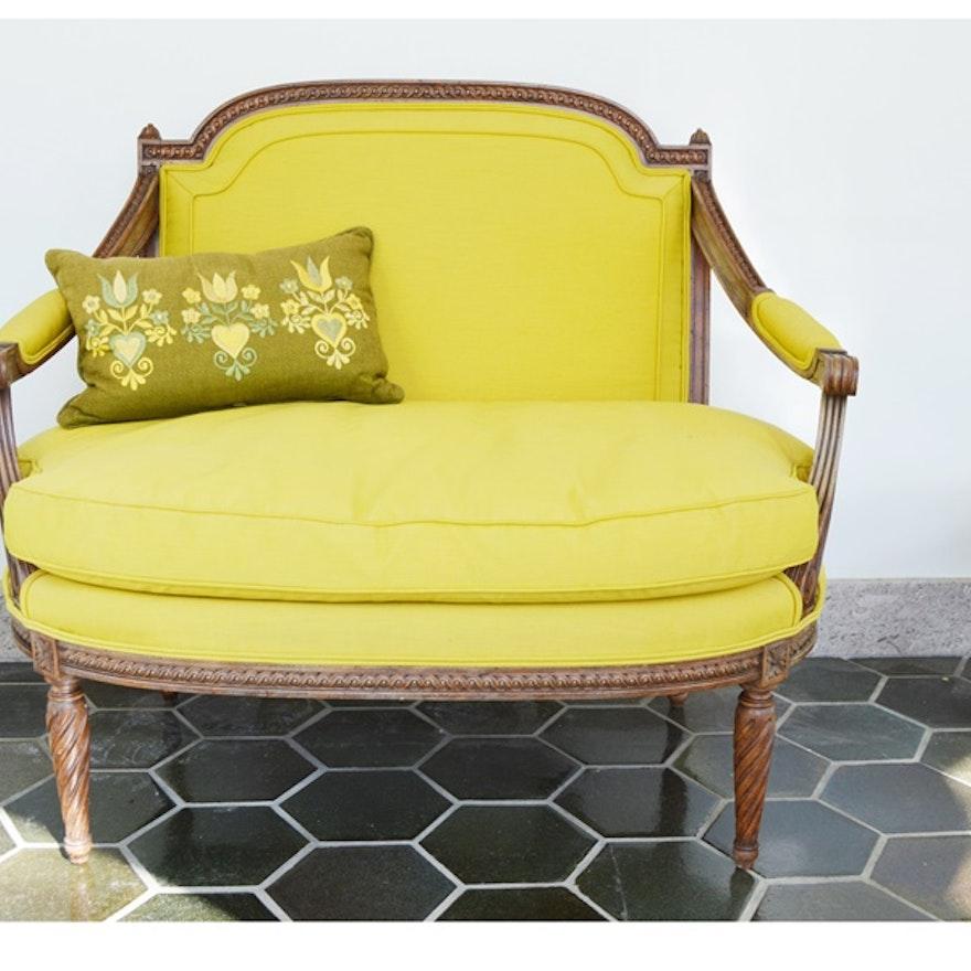 Vintage Meyer Gunther Martini Yellow Chair Settee