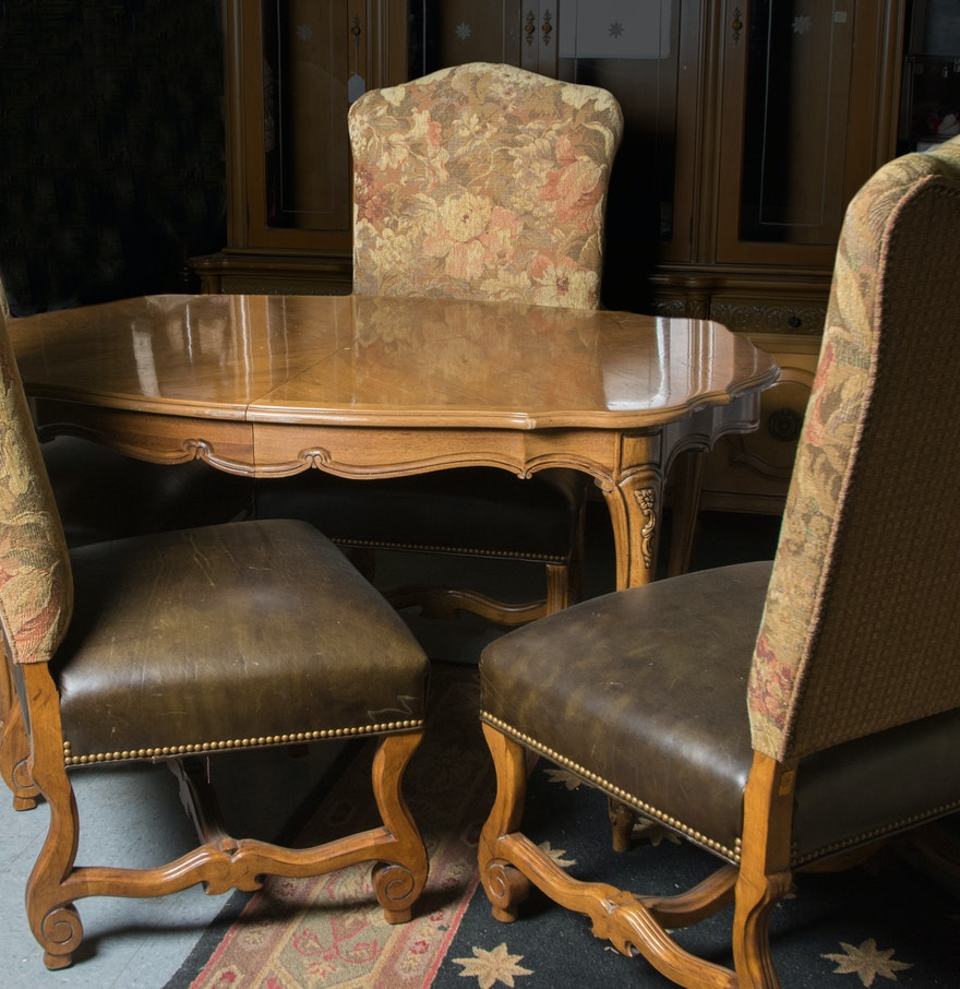 French Provincial Style Dining Table And Four Chairs EBTH