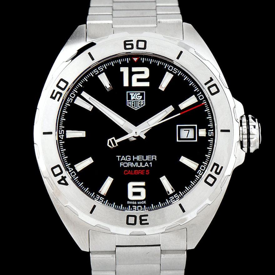 f4087af86 NEW Tag Heuer Formula 1 Caliber 5 41mm Automatic Steel Watch | EBTH