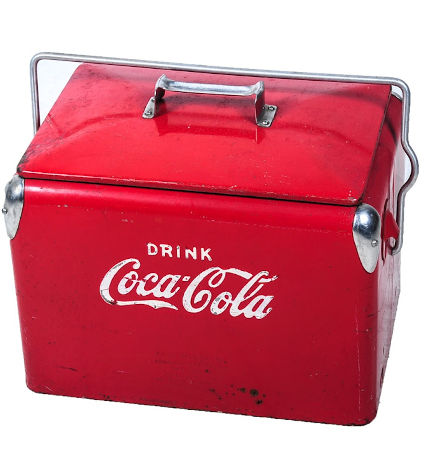 Vintage Coca Cola Cooler Large with Motor   Collectors Weekly  Old Coca Cola Coolers