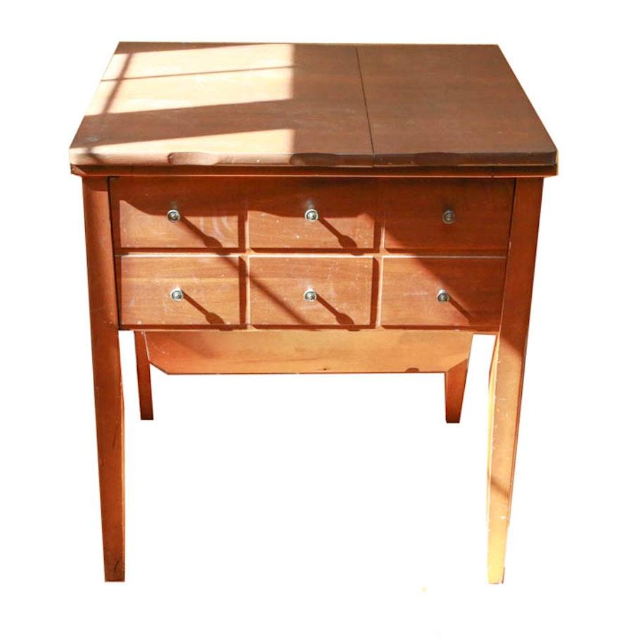 Vintage parsons sewing machine table ebth - Small sewing machine table ...