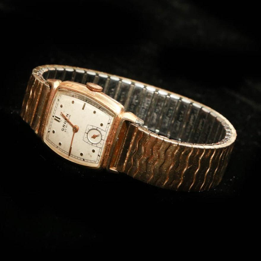 retro 1940s gruen veri thin wristwatch ebth. Black Bedroom Furniture Sets. Home Design Ideas