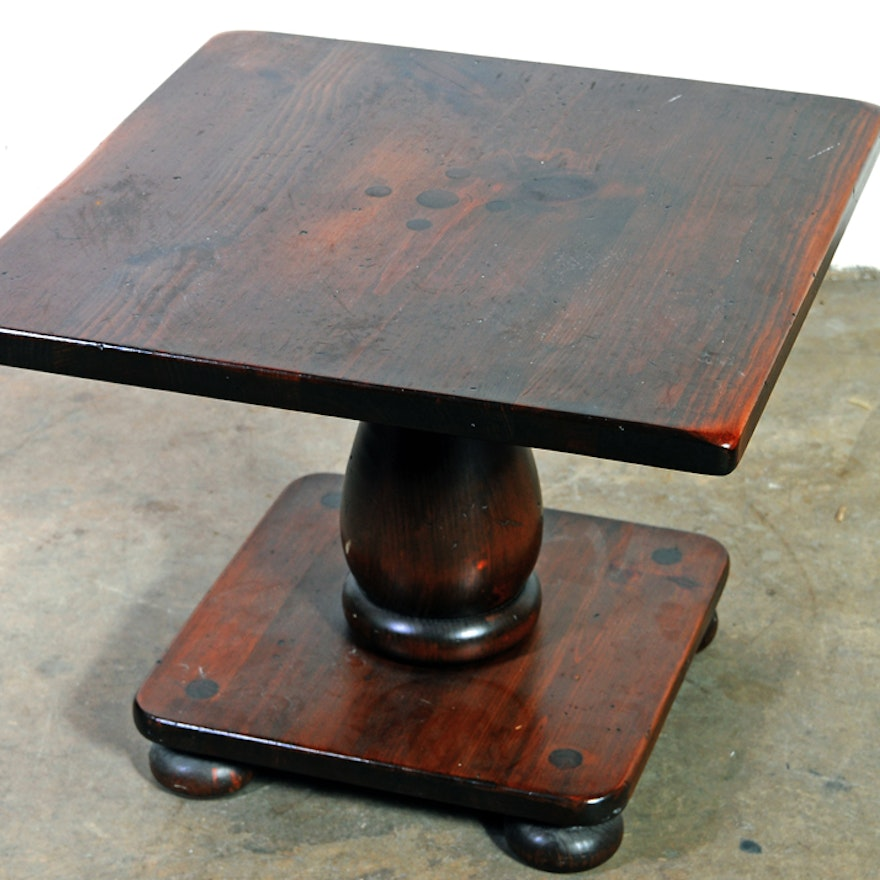 Astonishing Ethan Allen Old Tavern Square Pine Coffee Table Gmtry Best Dining Table And Chair Ideas Images Gmtryco
