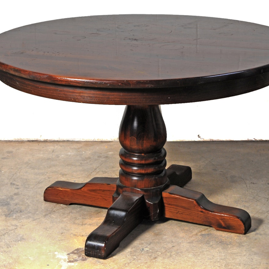 Sensational Ethan Allen Old Tavern Solid Pine Dining Table Gmtry Best Dining Table And Chair Ideas Images Gmtryco