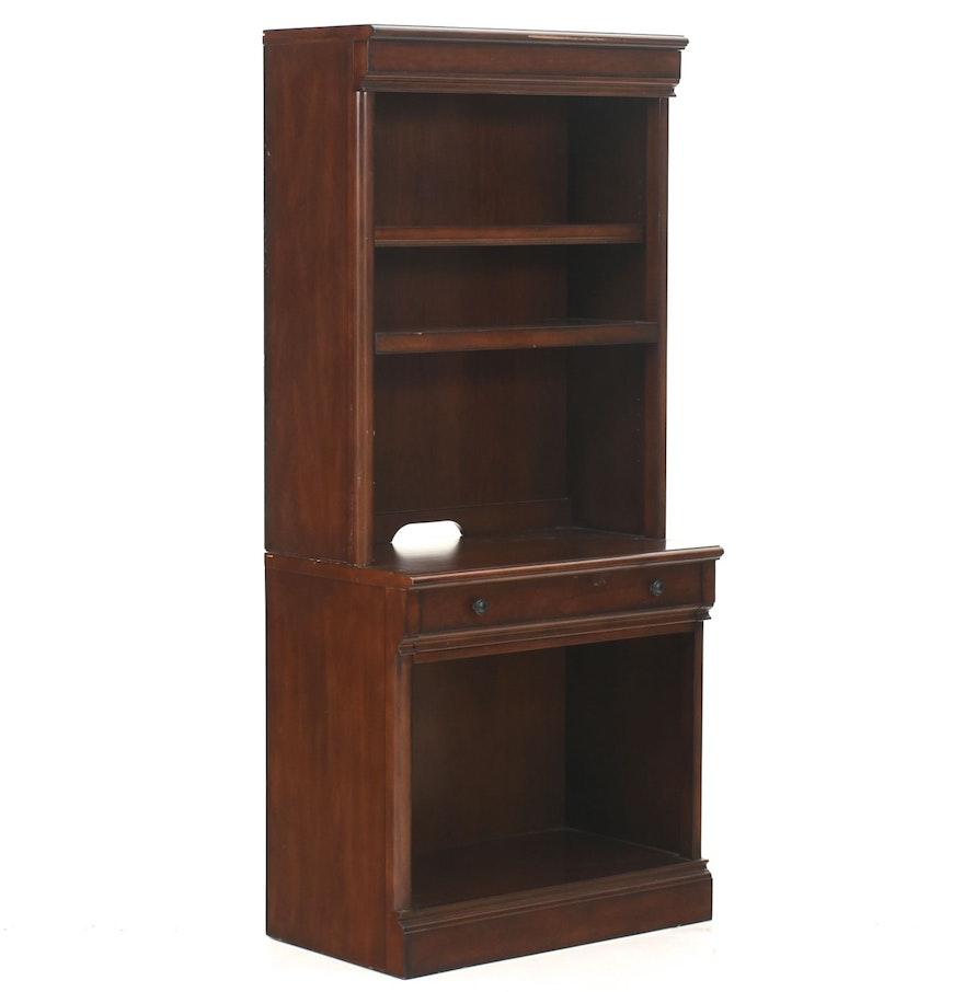 Bayside Furnishing Mahogany Finished Bookcase Cabinet : EBTH