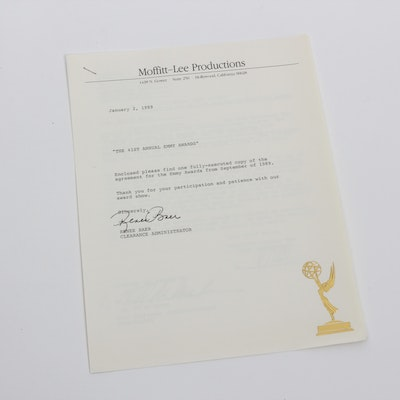 Ed McMahon's Original 41st Annual Emmy Awards Contract