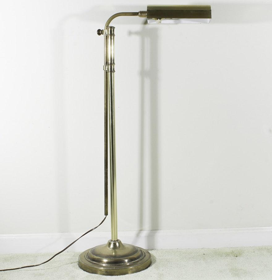 stiffel vintage brass pharmacy floor lamp ebth. Black Bedroom Furniture Sets. Home Design Ideas