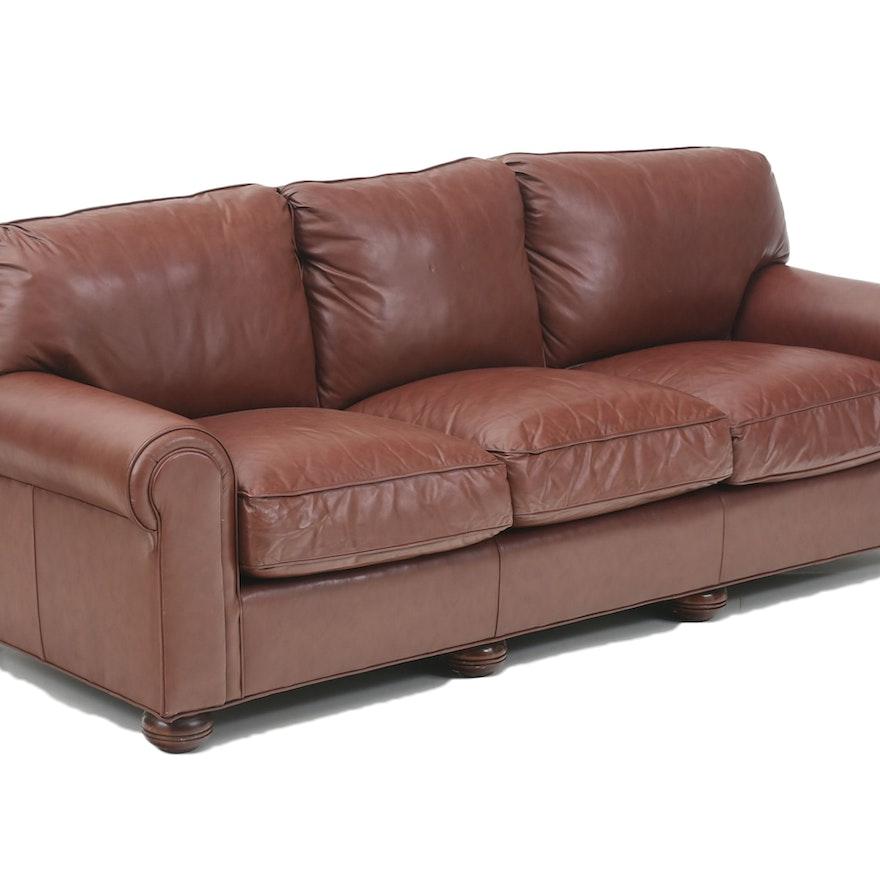 Mckinley Leather Bordeaux Sofa