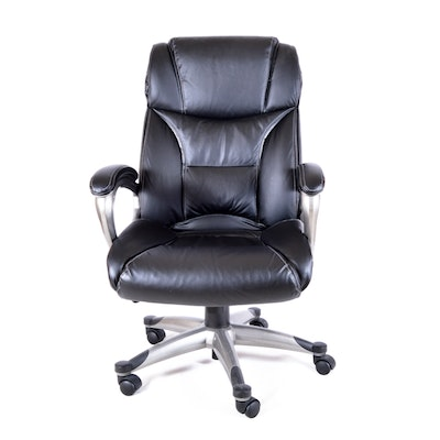 Black Bicast Leather Executive Chair
