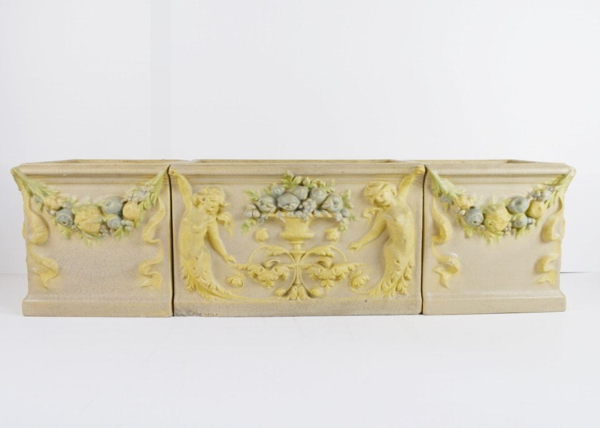 Circa 1885 Rookwood Pottery Faience Architectural Planter