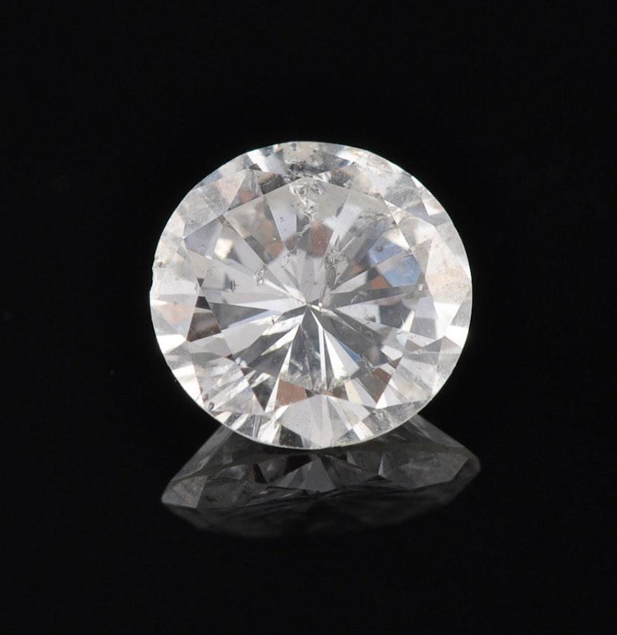 0.88 ct Round Brilliant Cut Loose Diamond : EBTH