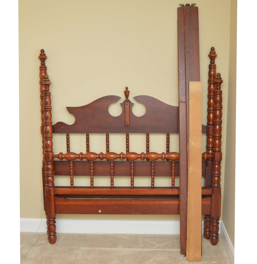 cherry wood full size bed frame ebth. Black Bedroom Furniture Sets. Home Design Ideas
