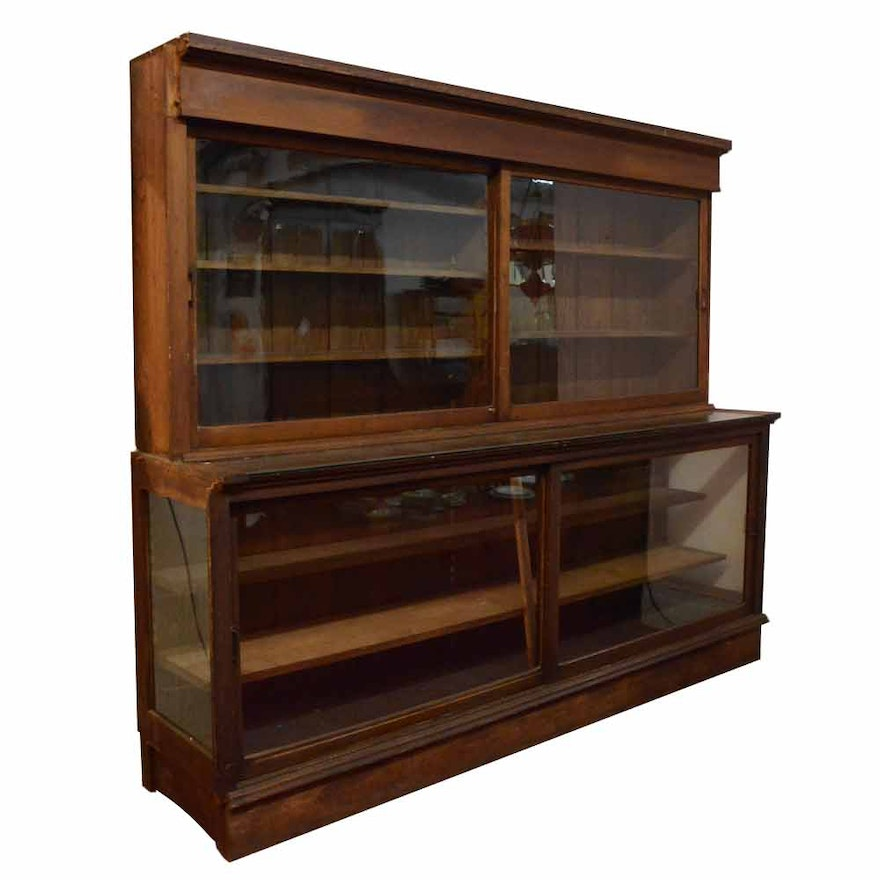 Antique General Store Style Display Cabinet ... - Antique General Store Style Display Cabinet : EBTH