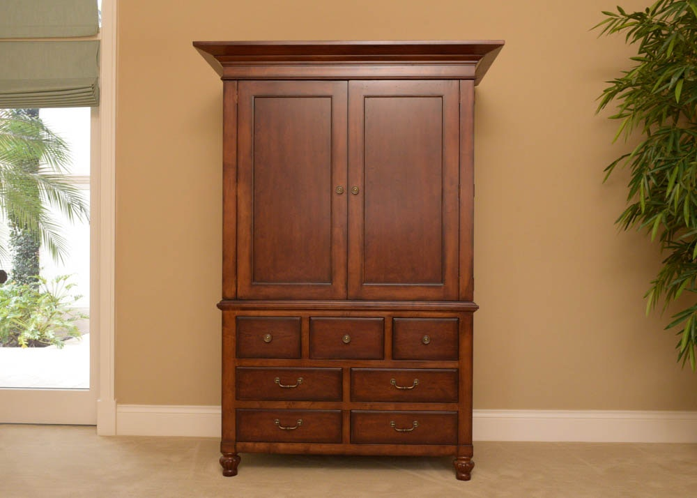 Charmant Hickory White 7 Drawer Entertainment Armoire ...