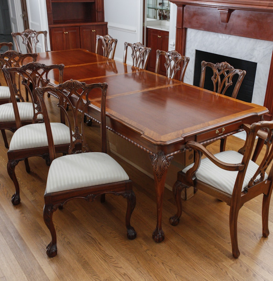 Mahogany Dining Table by Link-Taylor : EBTH