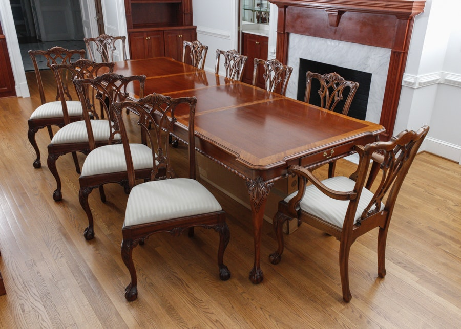 Superior Mahogany Dining Table By Link Taylor ...