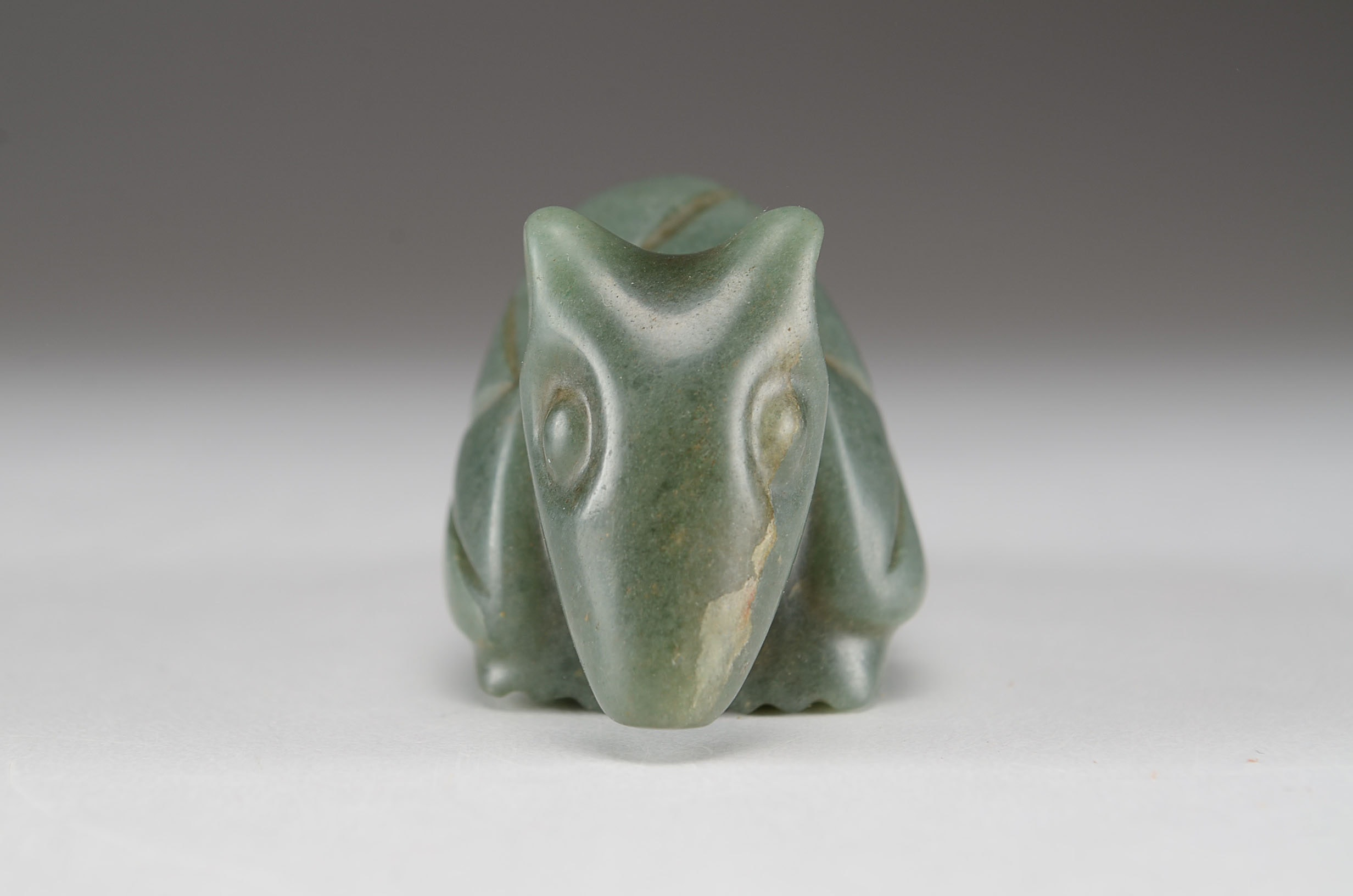 Olmec Style Green Aventurine Quartz Armadillo Figurine Ebth