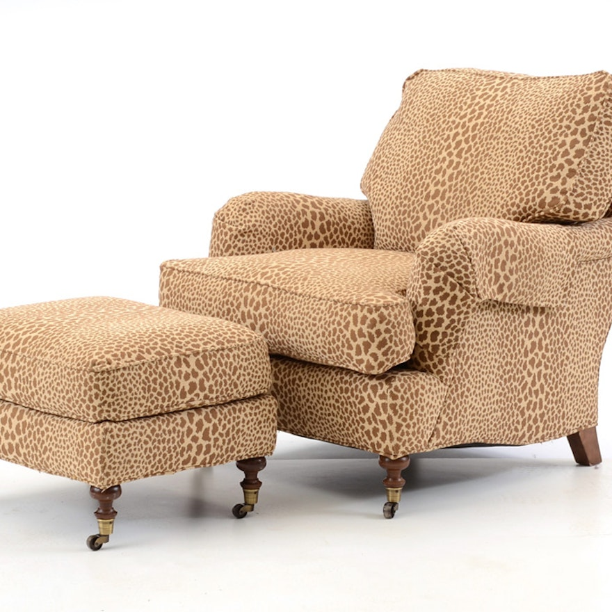Lee Industries Leopard Print Chair And
