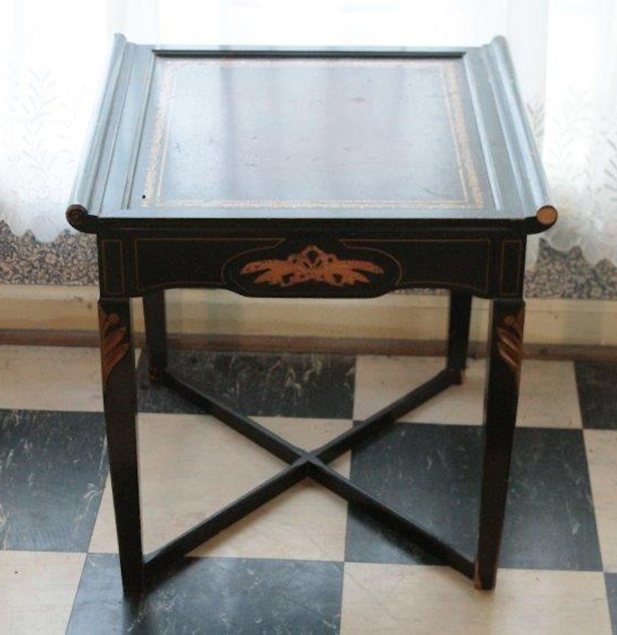 Small Black Accent Table Ebth