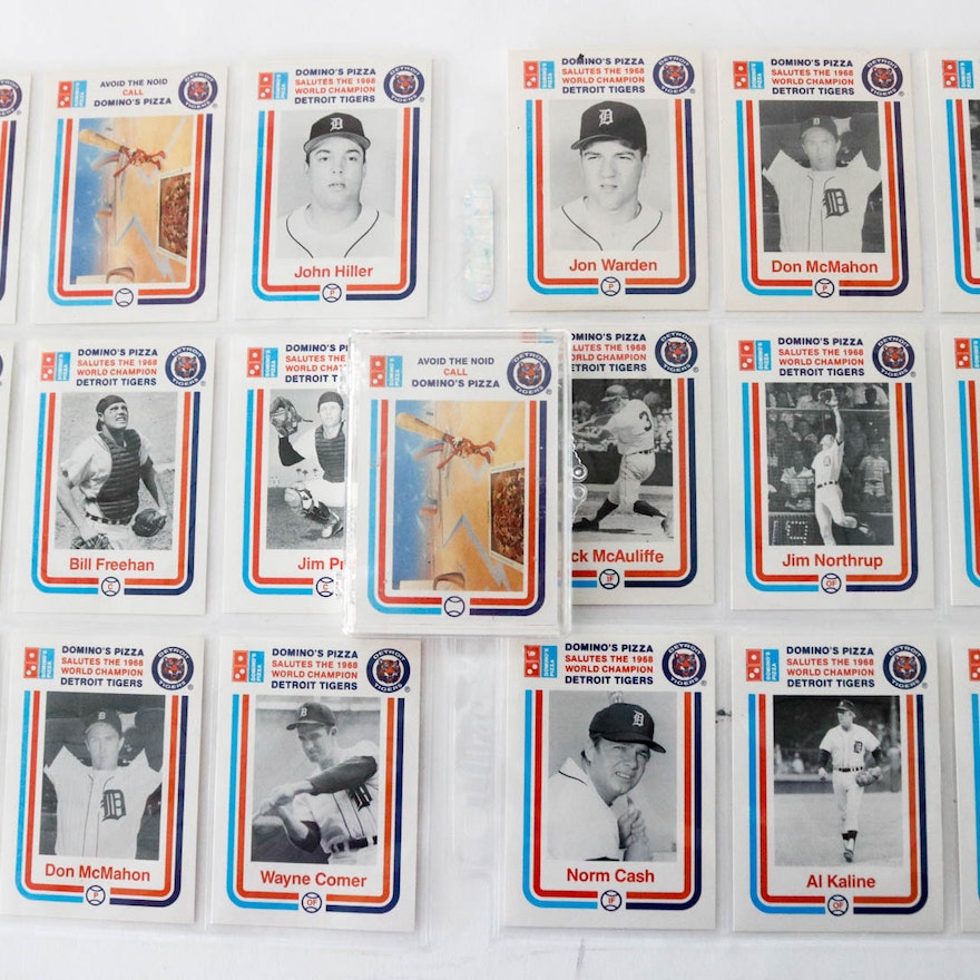 Collection Of Dominos Pizza Detroit Tigers Baseball Cards
