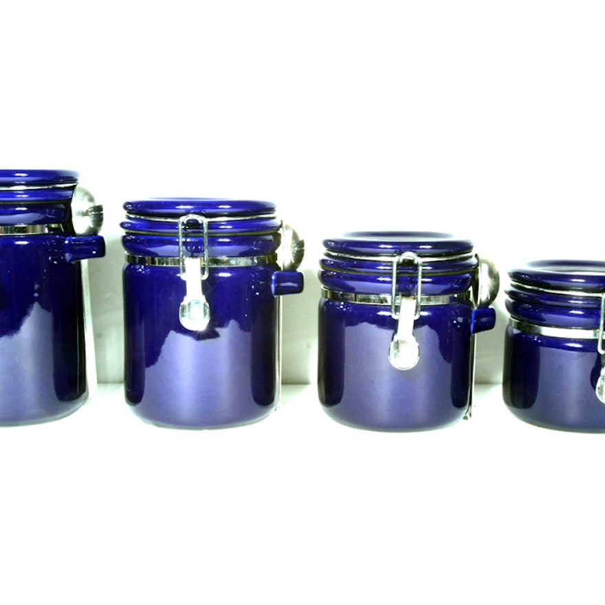 Kitchen Canister Set With Spoons