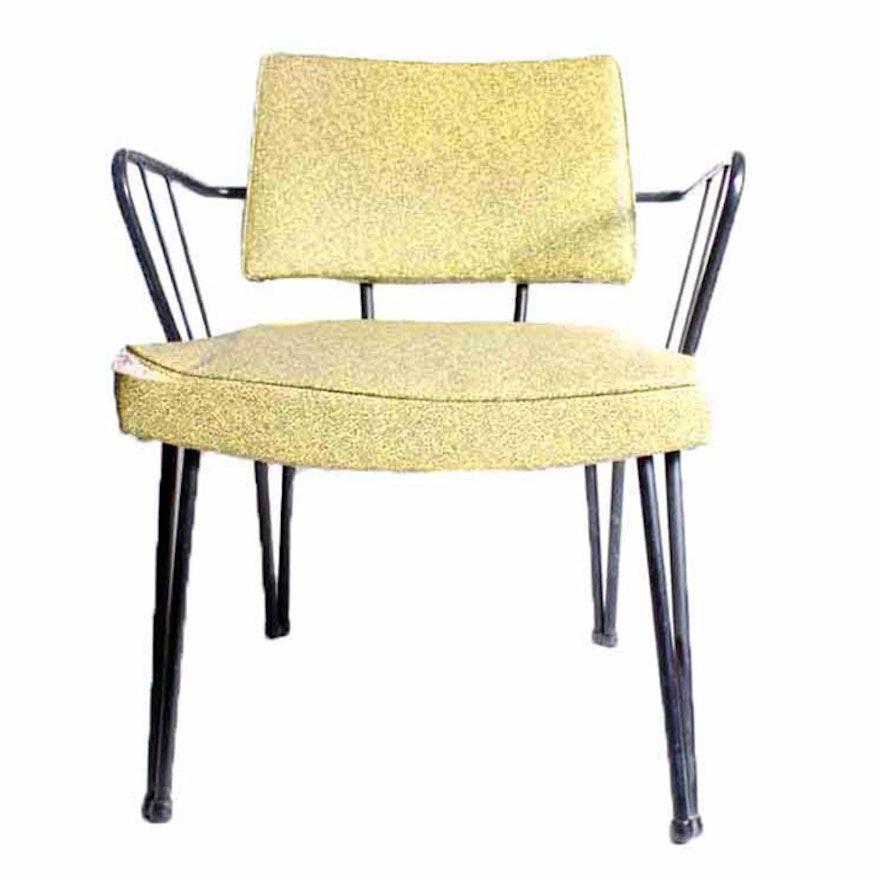 Mid Century Douglas Eaton Atomic Metal Frame Vinyl Chair