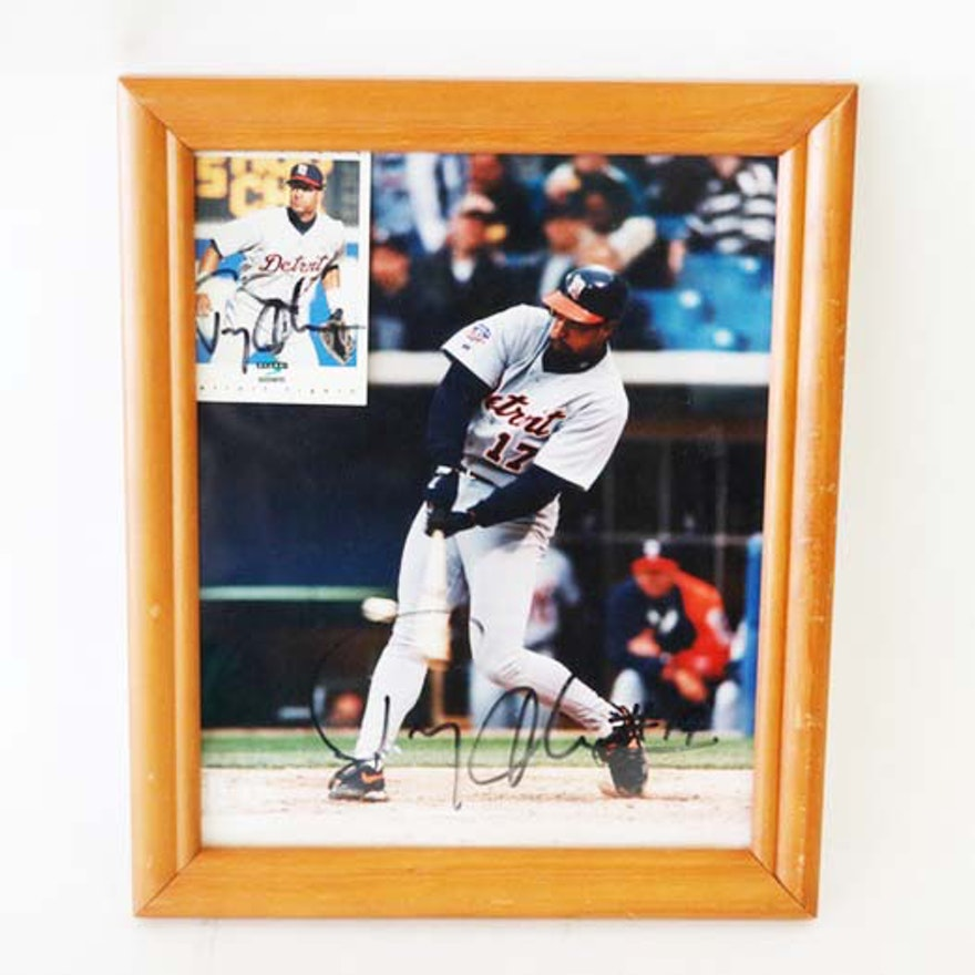Tony Clark Detroit Tigers Autographed Photo And Baseball Card
