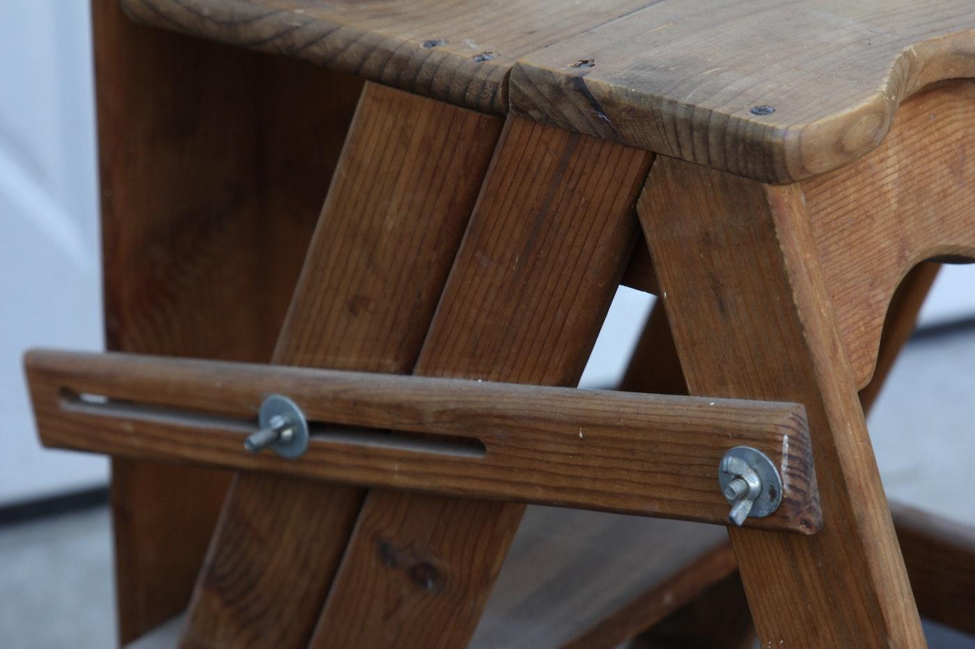 Vintage Amish Wood Ironing Board Ladder Chair Ebth