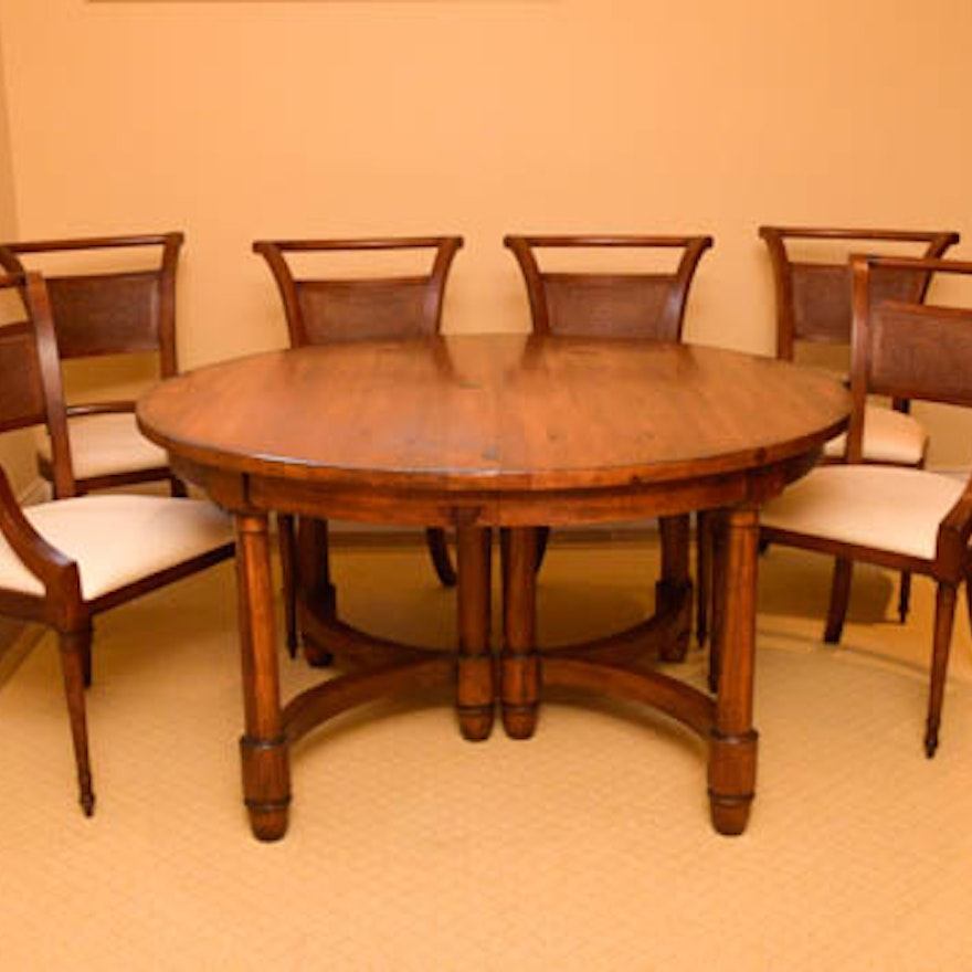 Henredon Dining Table With Six Chairs