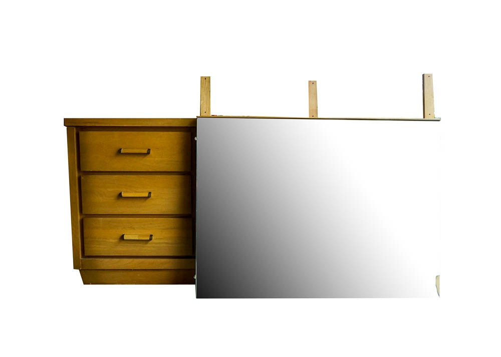 Maple Low Dresser With Mirror From Owosso Manufacturing Company ...