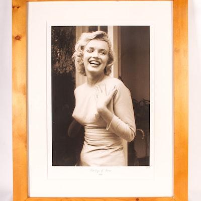 Original Fine Art Giclee Print of Marilyn Monroe with COA