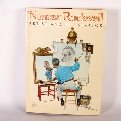 """""""Norman Rockwell: Artist and Illustrator"""" Hardcover Book"""