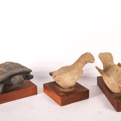 Trio of Ceramic Animal Sculptures