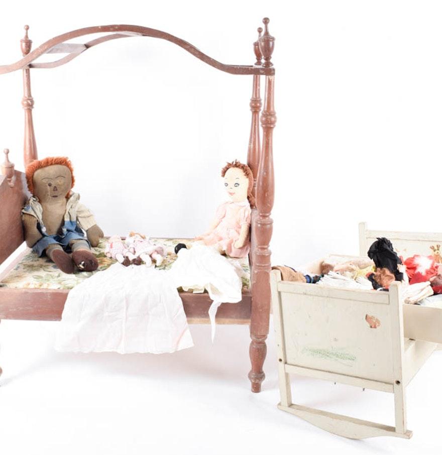Vintage Doll Beds 78