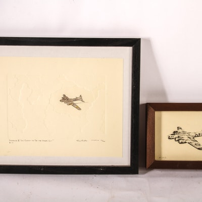 Pair of Aviation Sketches
