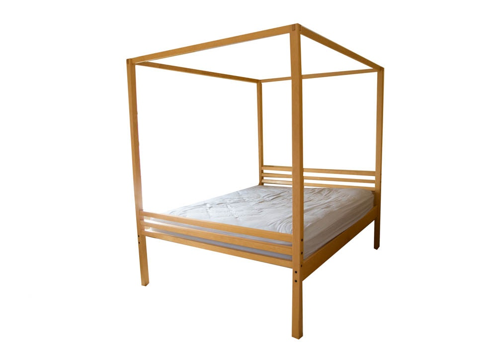 maple canopy queen bed frame from crate and barrel : ebth