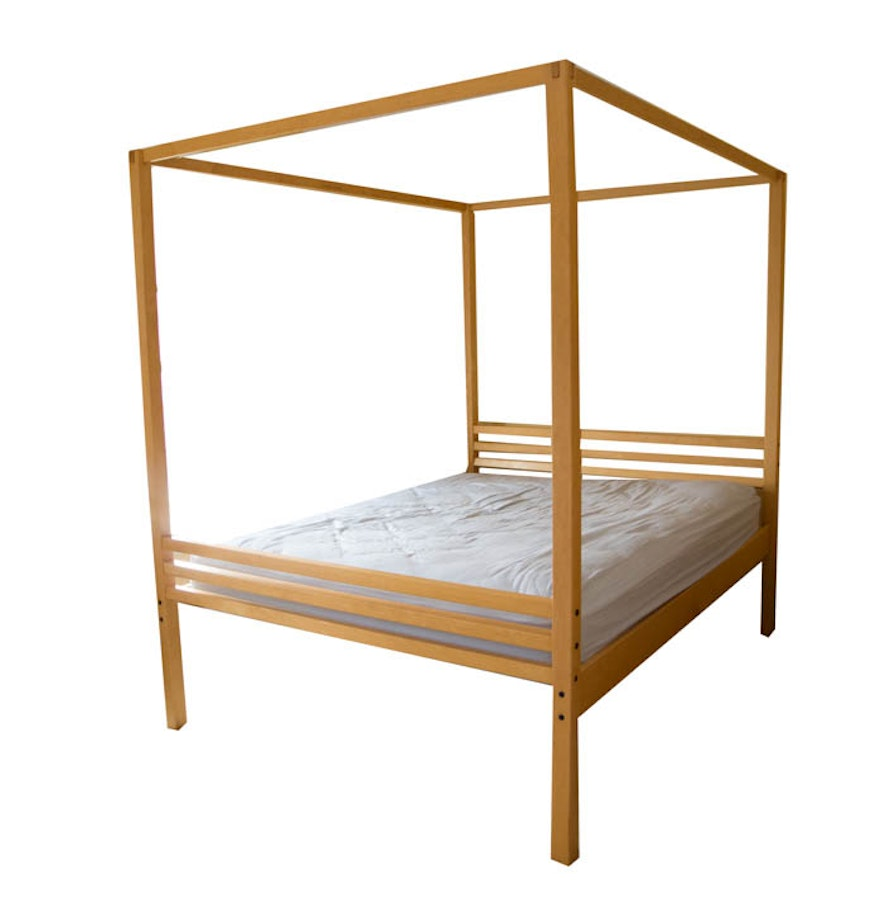 Maple Canopy Queen Bed Frame From Crate And Barrel