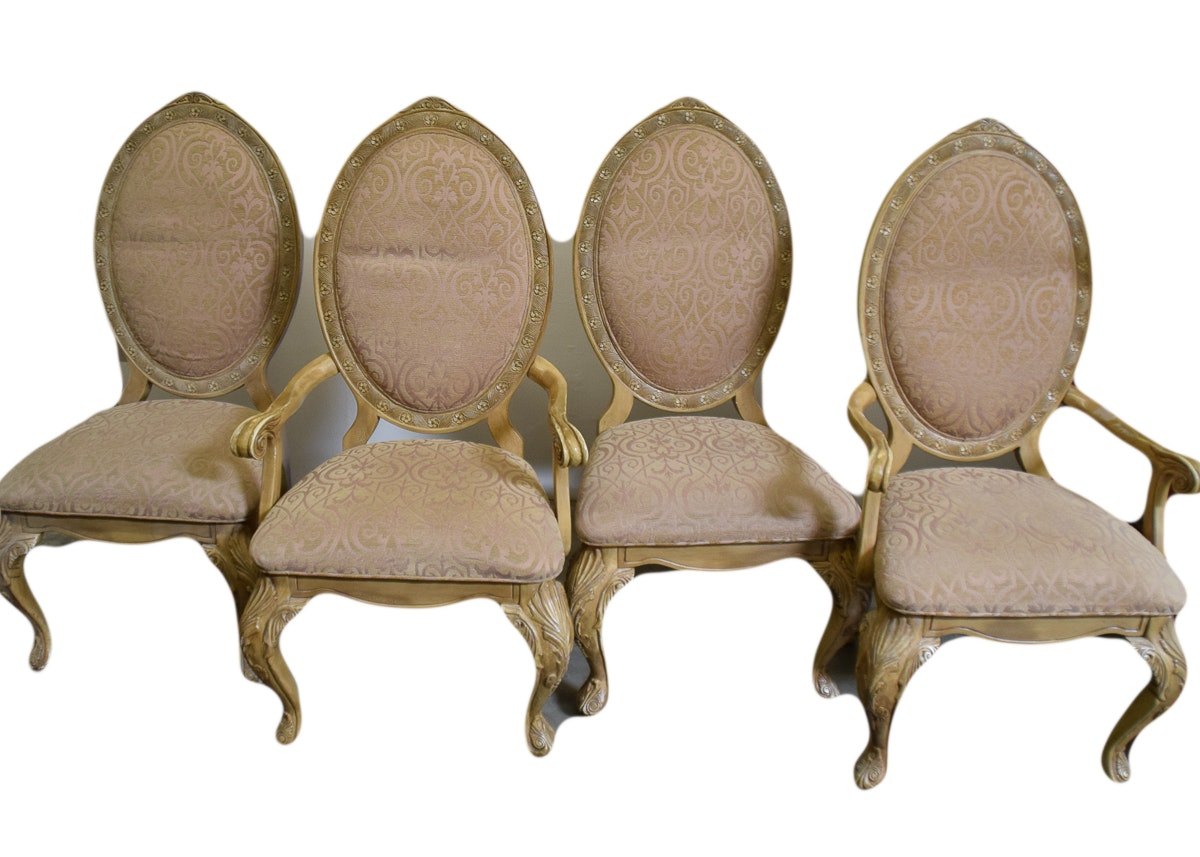 Set Of Four Michael Amini Lavelle Blanc Side Chairs By AICO ...