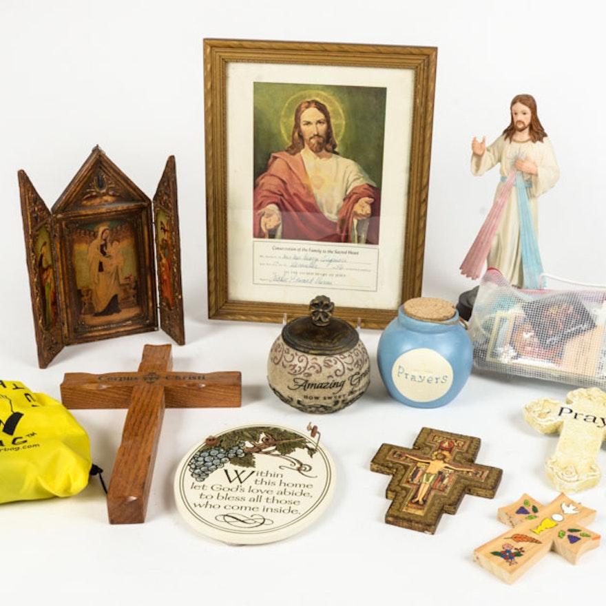 Assortment of Catholic Religious Items
