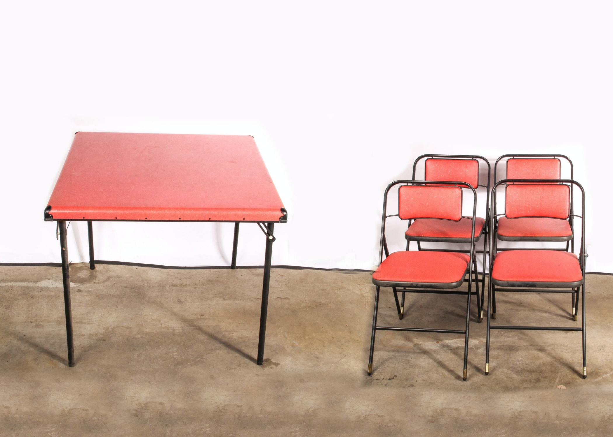 Vintage Shwayder Bros Samsonite Table and Folding Chairs EBTH