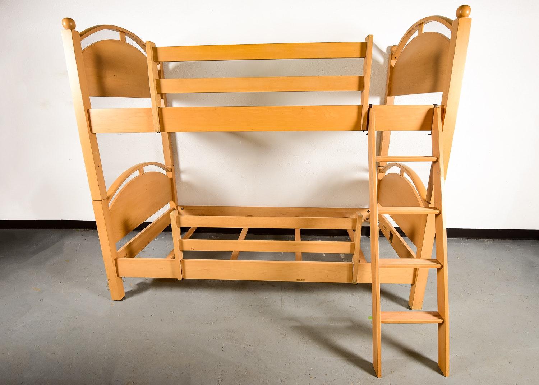 Ethan Allen Maple Bunk Beds Ebth