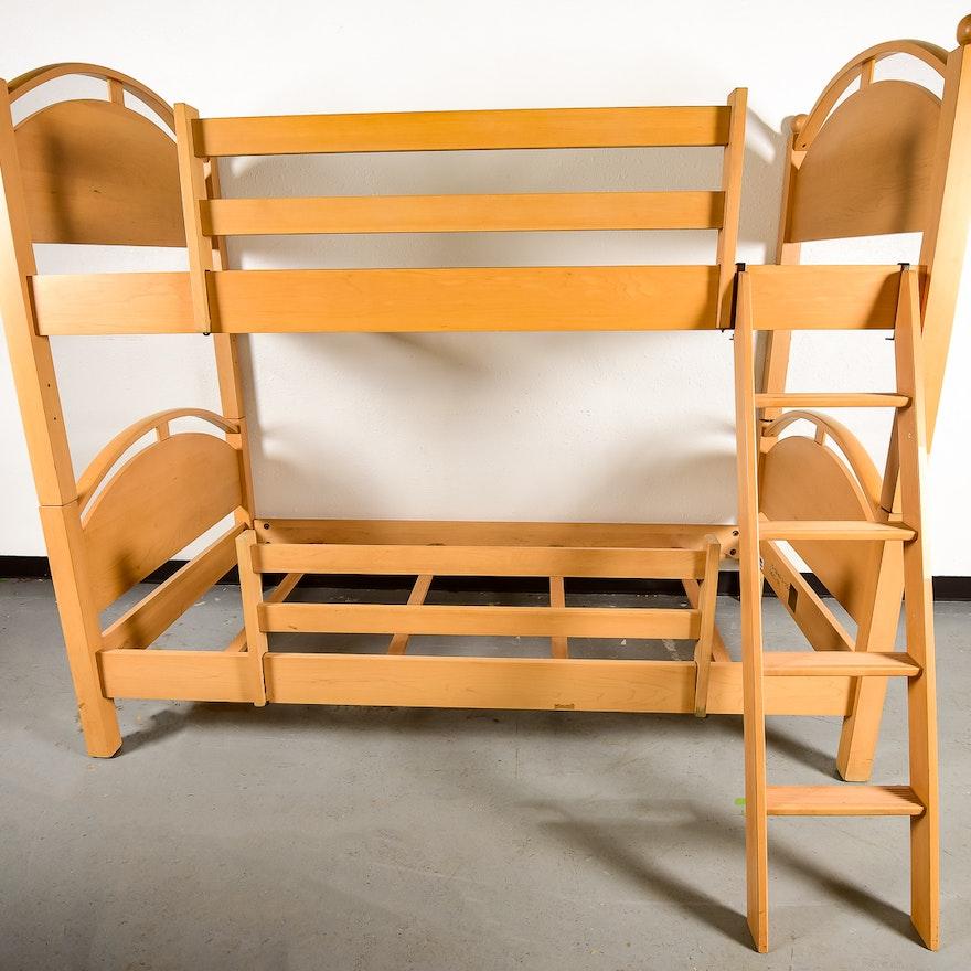 Ethan Allen Maple Bunk Beds