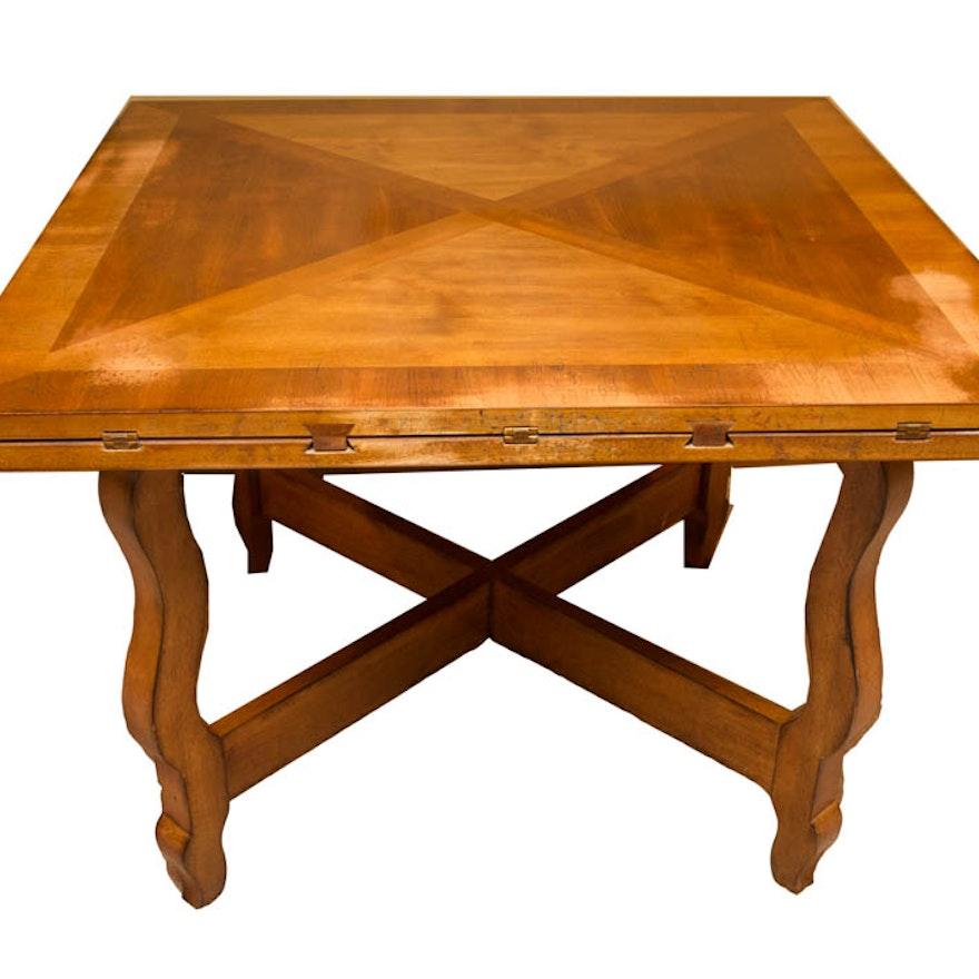 Vintage Drop Leaf Fruitwood Dining Table
