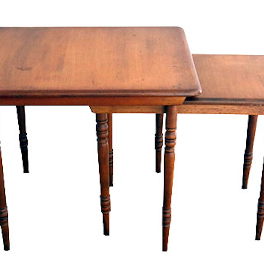 Conant Ball Furniture Makers 1852 Nesting Tables Ebth