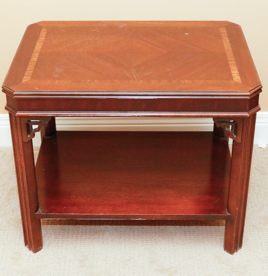 Lane Furniture Chinese Chippendale Side Table ... - Lane Furniture Chinese Chippendale Side Table : EBTH